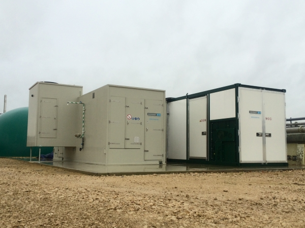 digestate container dryer with air cleaning